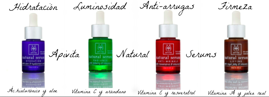 natural serums de apivita